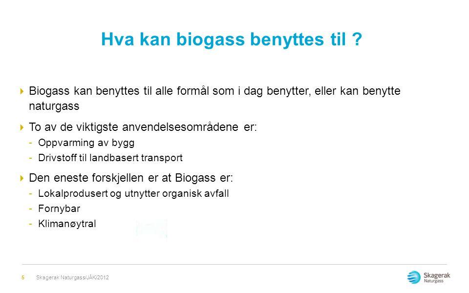 Hva kan biogass benyttes til