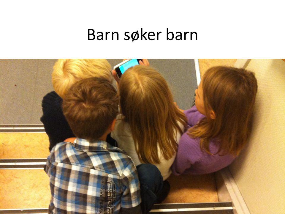 Barn søker barn