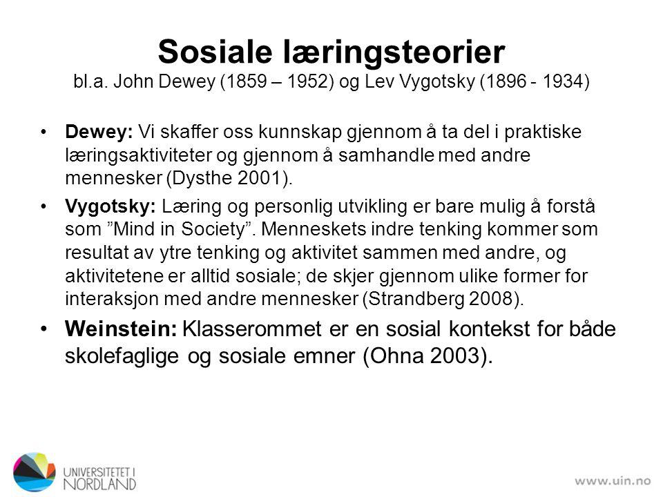 Sosiale læringsteorier bl. a