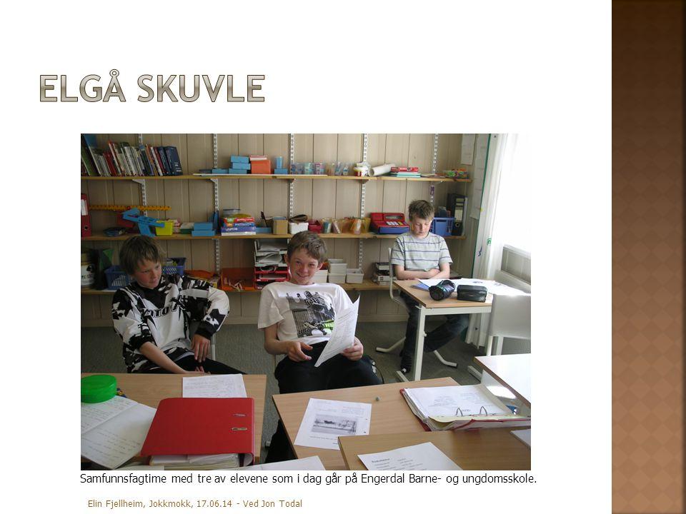 Elgå skuvle Samfunnsfagtime med tre av elevene som i dag går på Engerdal Barne- og ungdomsskole.