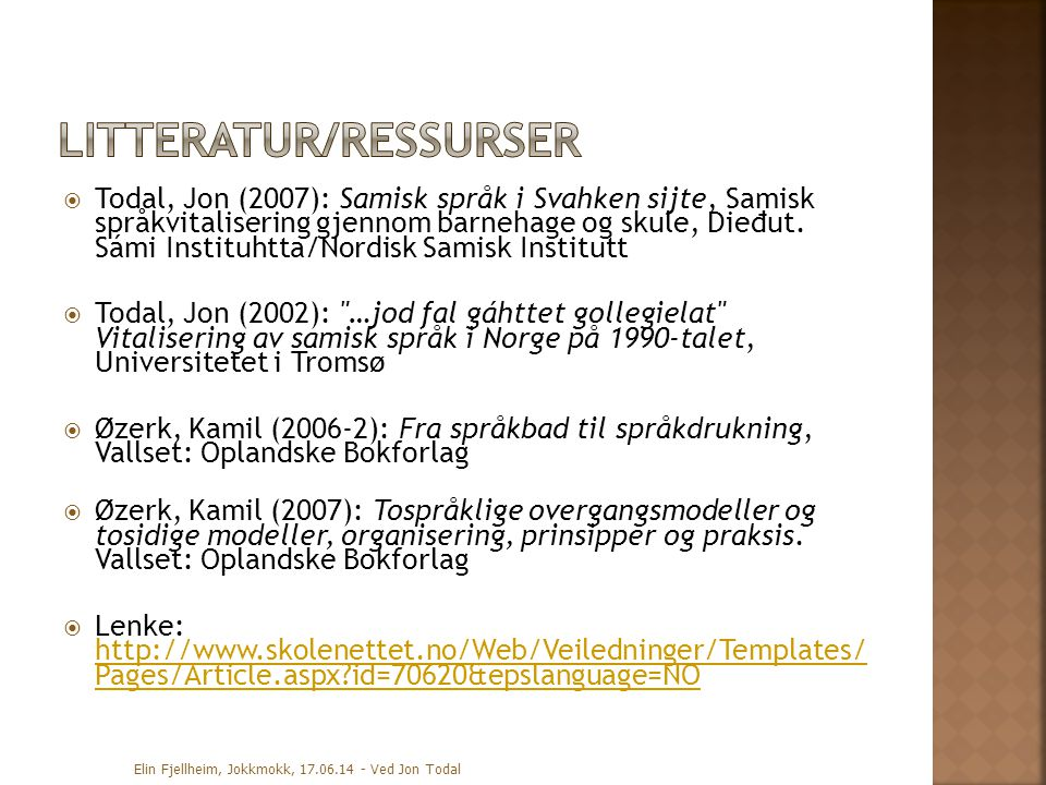 Litteratur/ressurser