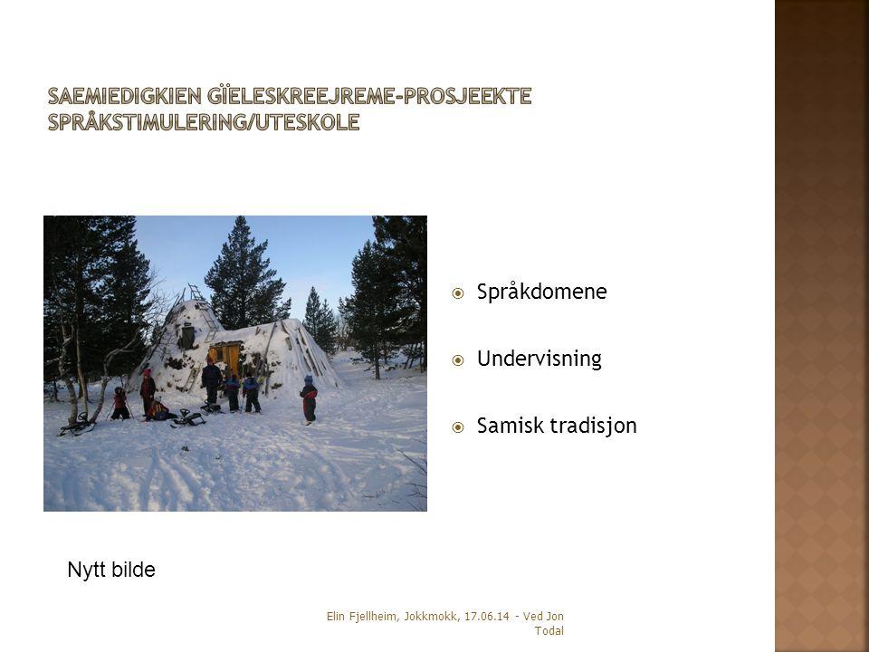 SAEMIEDIGKIEN GÏELESKREEJREME-PROSJEEKTE Språkstimulering/Uteskole
