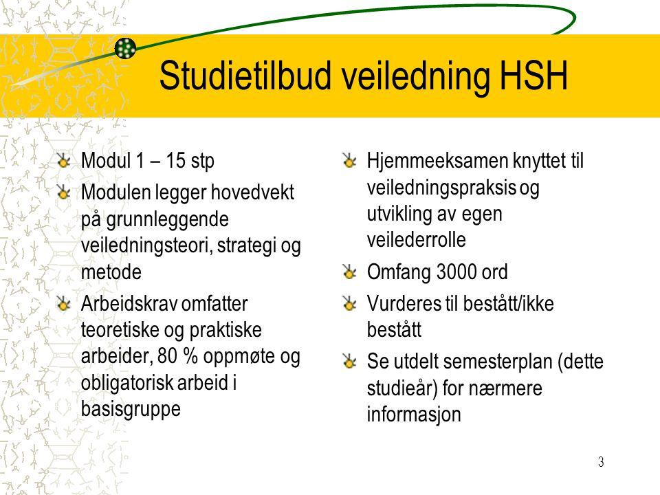 Studietilbud veiledning HSH