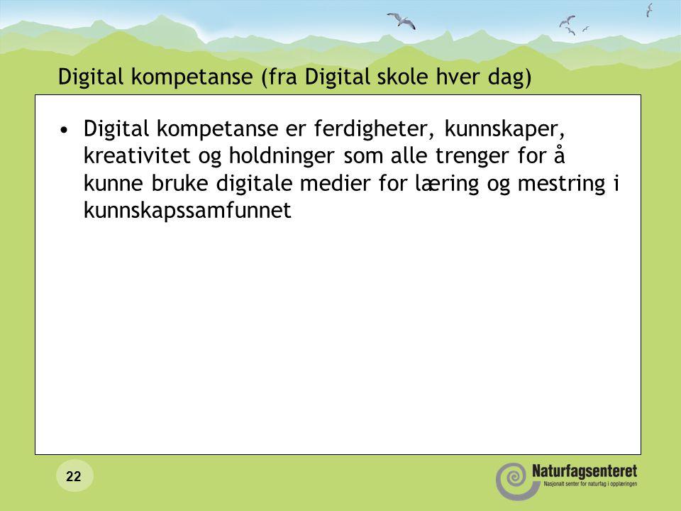 Digital kompetanse (fra Digital skole hver dag)