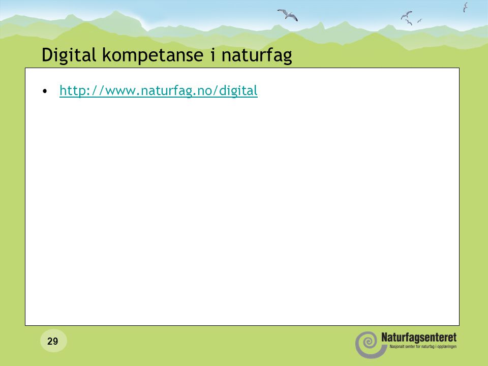 Digital kompetanse i naturfag