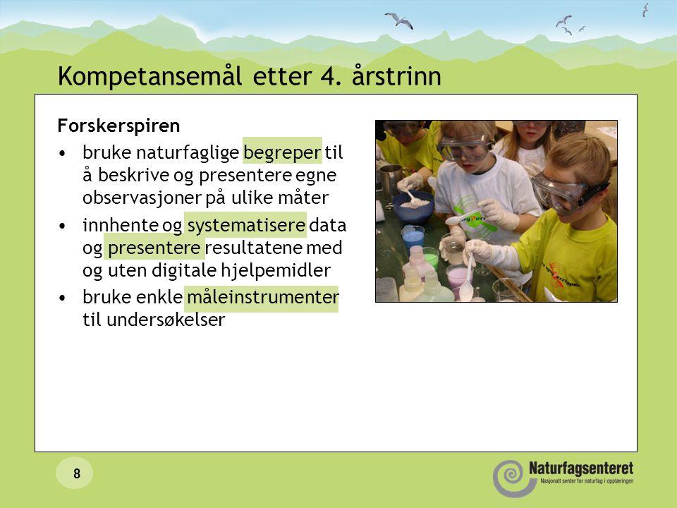 Kompetansemål etter 4. årstrinn