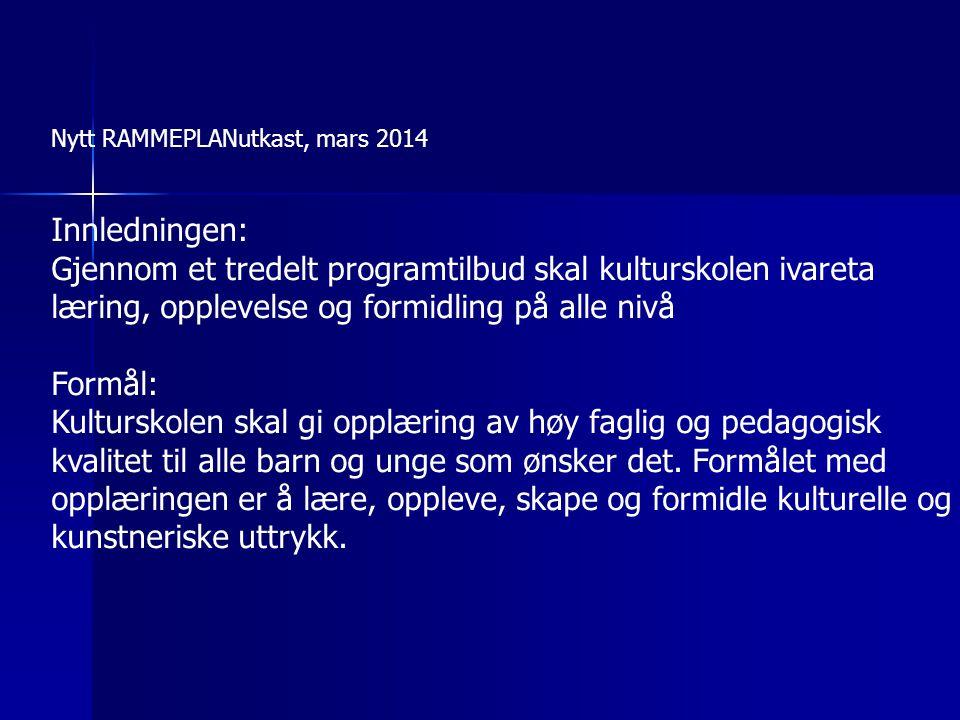 Nytt RAMMEPLANutkast, mars 2014