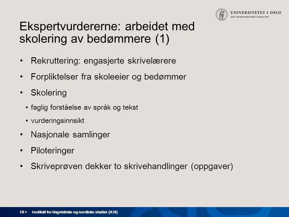 Ekspertvurdererne: arbeidet med skolering av bedømmere (1)
