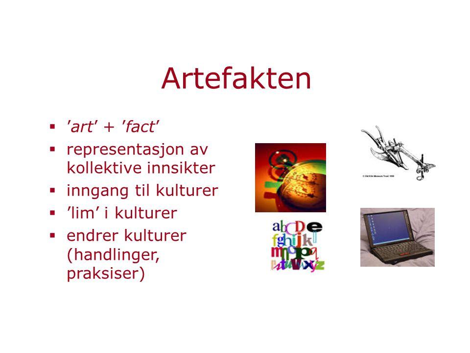 Artefakten 'art' + 'fact' representasjon av kollektive innsikter