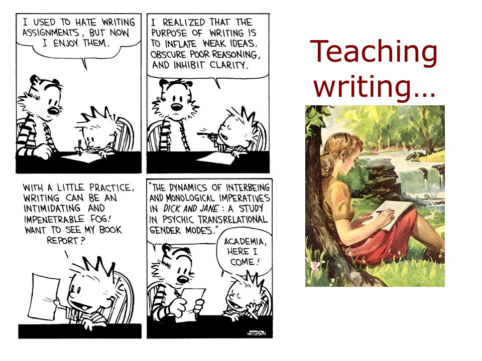 Teaching writing…
