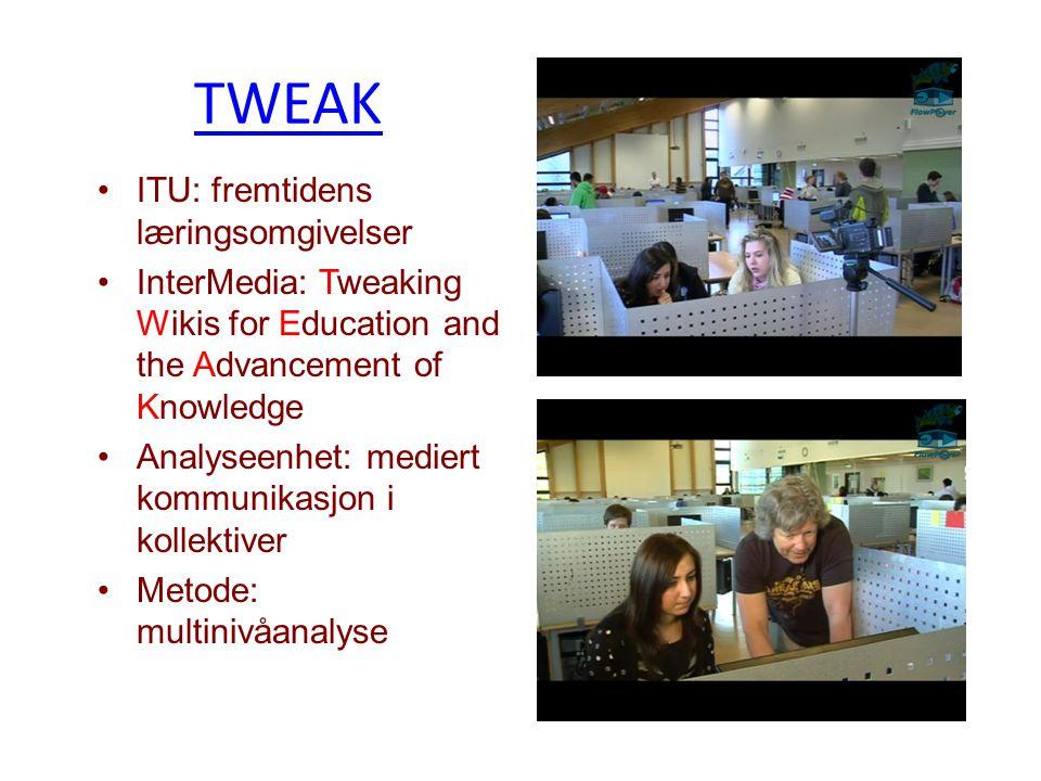 TWEAK ITU: fremtidens læringsomgivelser
