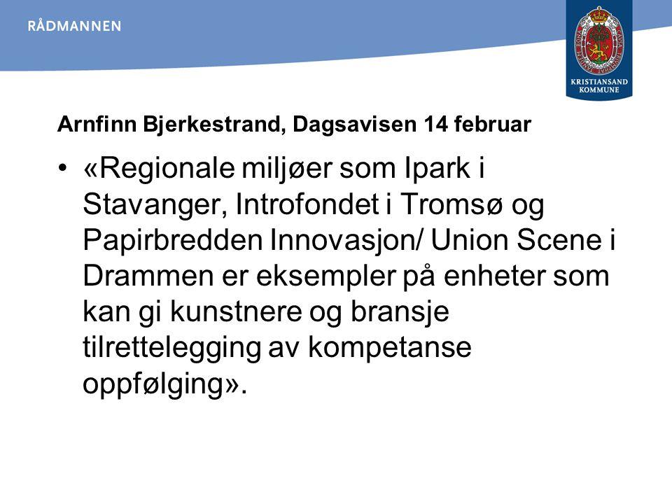 Arnfinn Bjerkestrand, Dagsavisen 14 februar