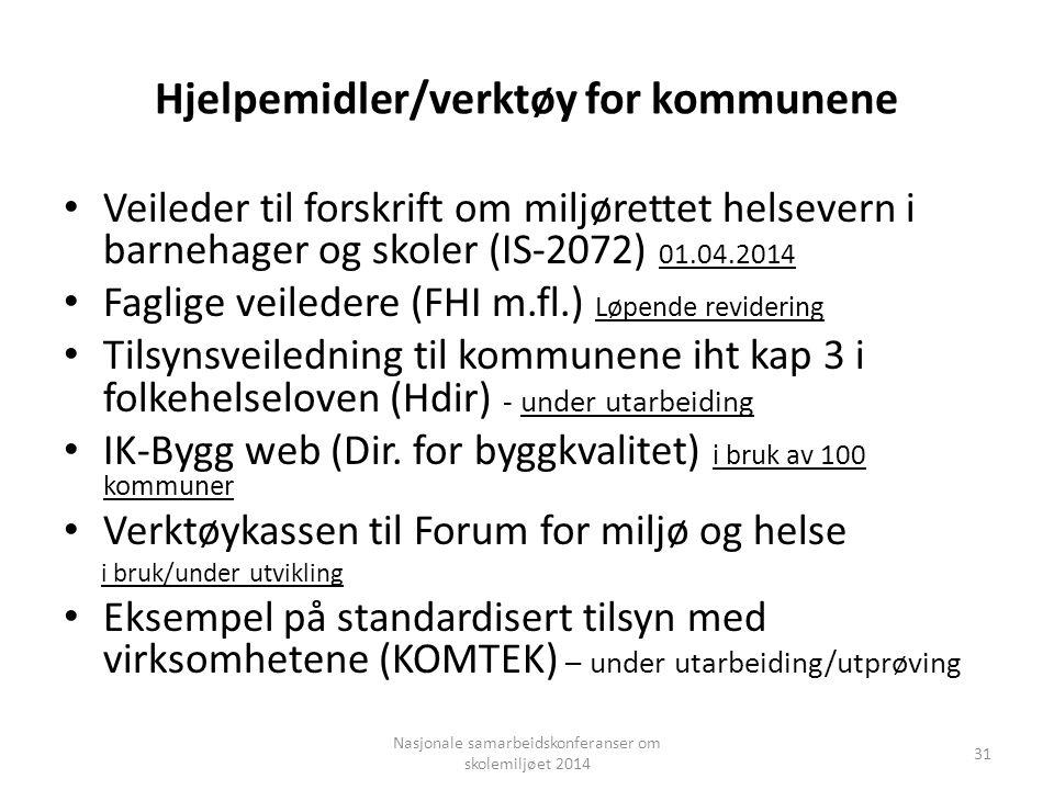 Hjelpemidler/verktøy for kommunene