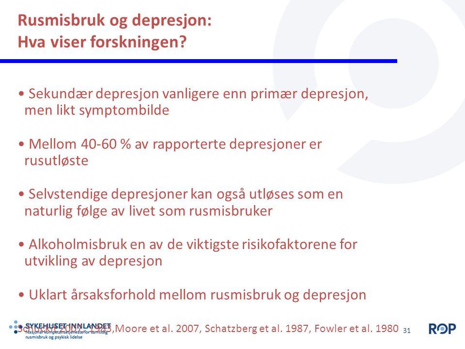 Rusmisbruk og depresjon: Hva viser forskningen