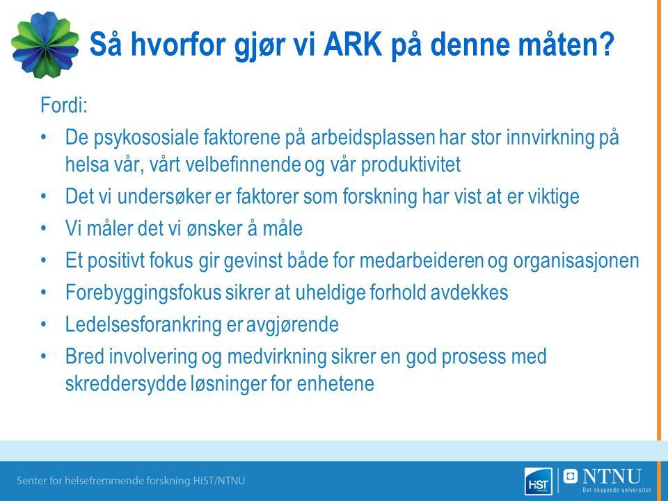 Så hvorfor gjør vi ARK på denne måten