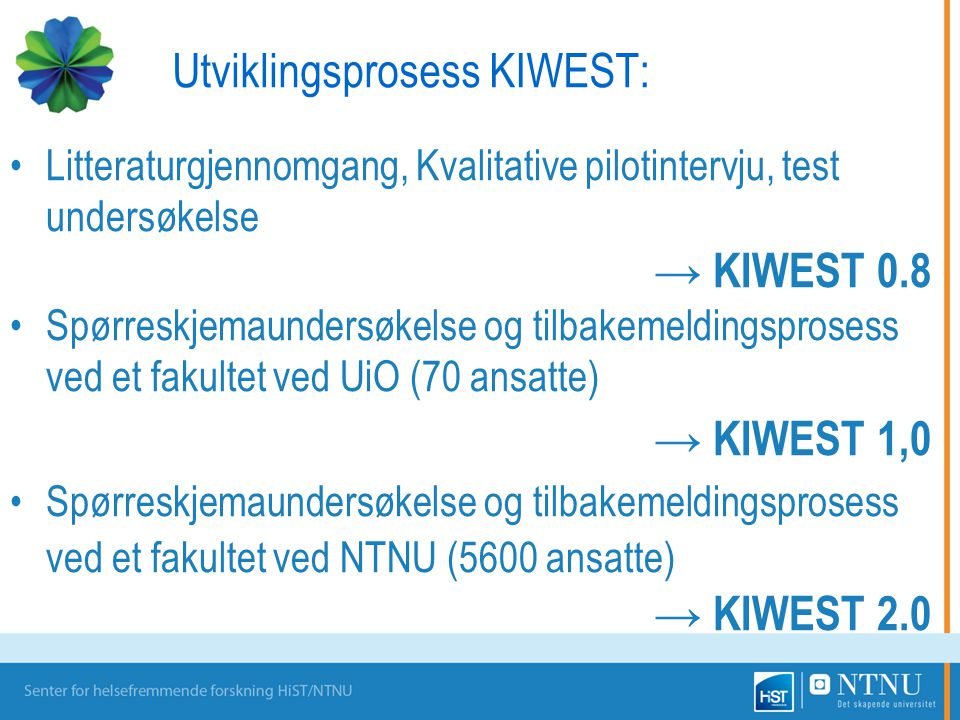 Utviklingsprosess KIWEST: