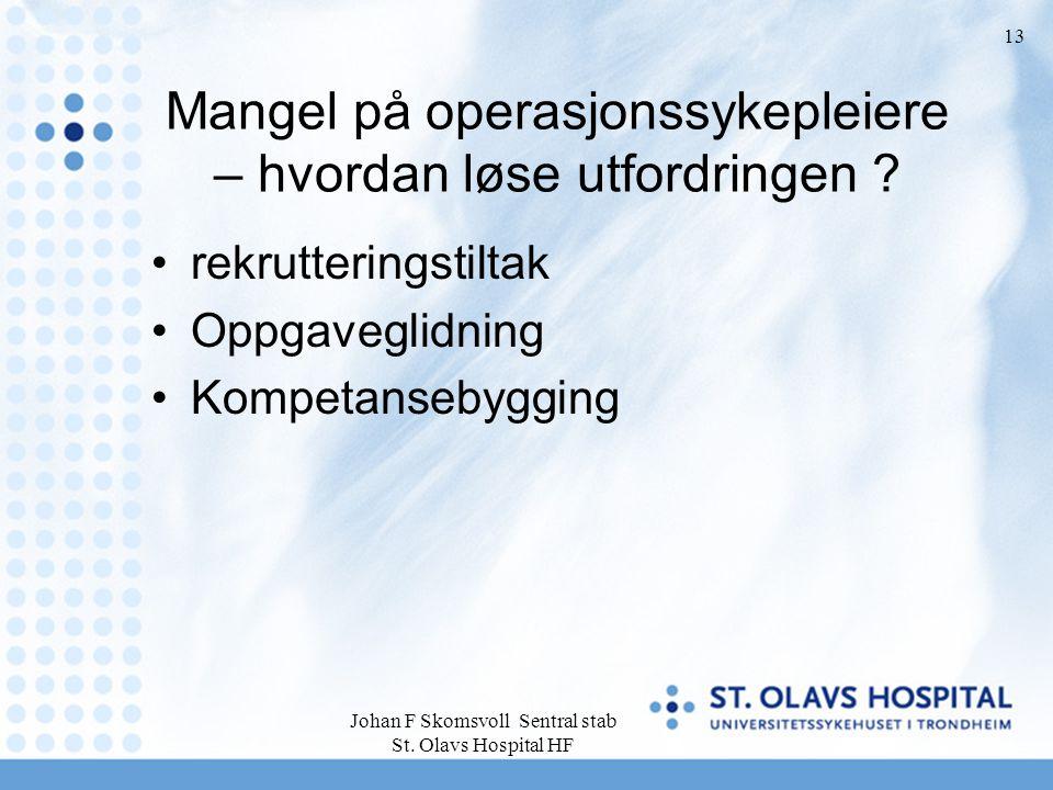Mangel på operasjonssykepleiere – hvordan løse utfordringen