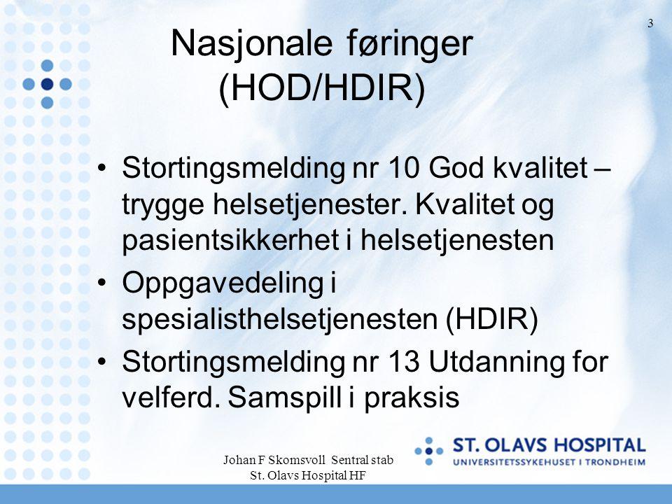 Nasjonale føringer (HOD/HDIR)