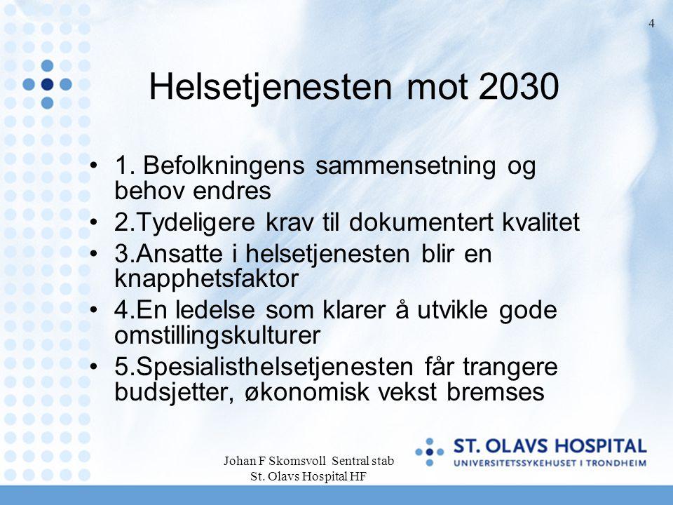 Johan F Skomsvoll Sentral stab St. Olavs Hospital HF