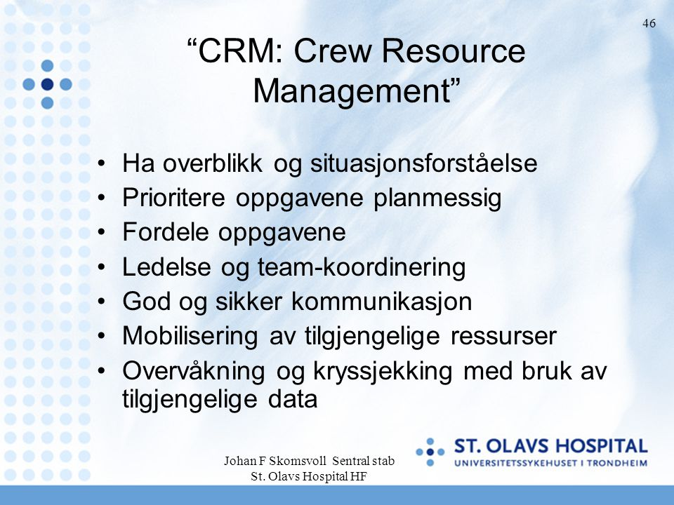 CRM: Crew Resource Management