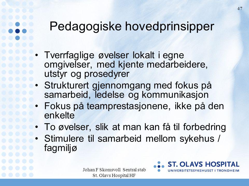 Pedagogiske hovedprinsipper