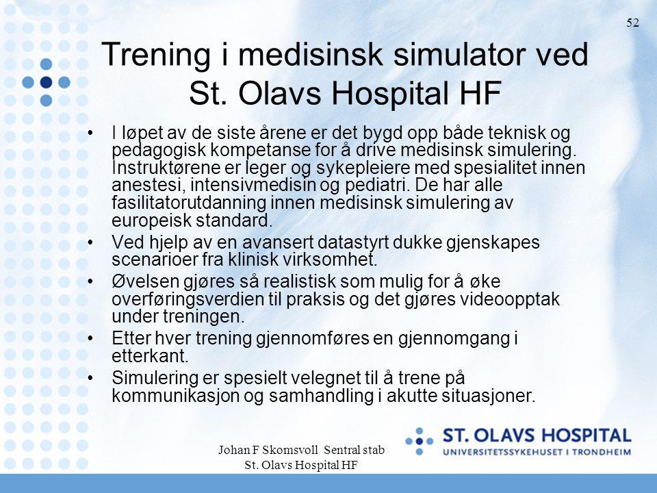 Trening i medisinsk simulator ved St. Olavs Hospital HF