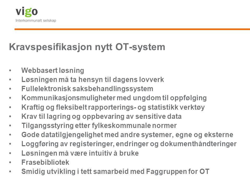 Kravspesifikasjon nytt OT-system
