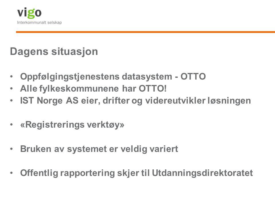 Dagens situasjon Oppfølgingstjenestens datasystem - OTTO