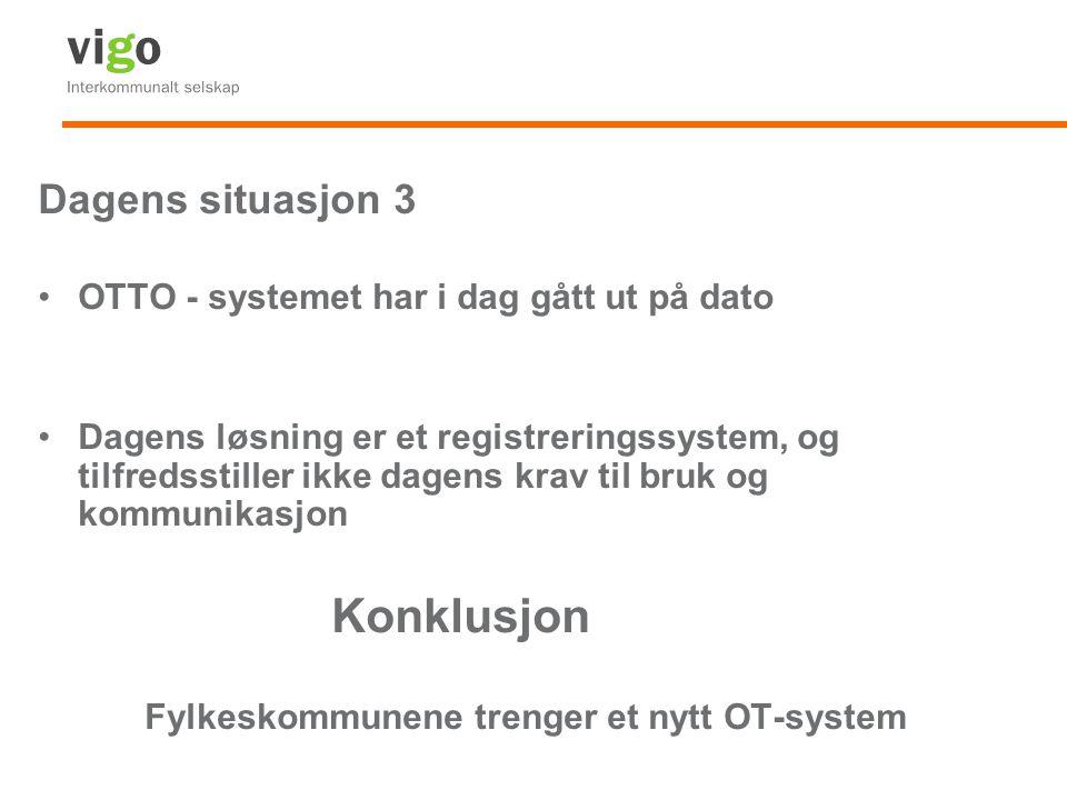 Konklusjon Dagens situasjon 3