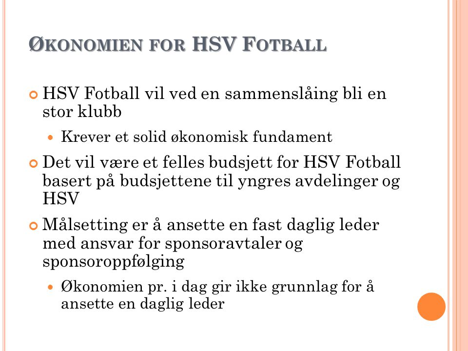 Økonomien for HSV Fotball