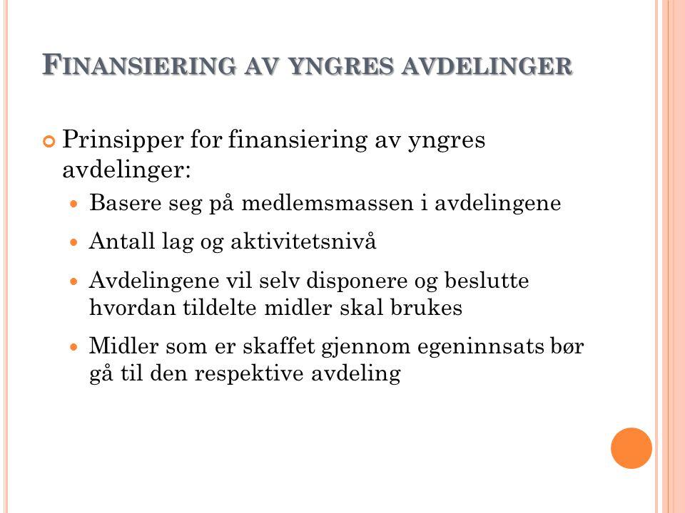 Finansiering av yngres avdelinger