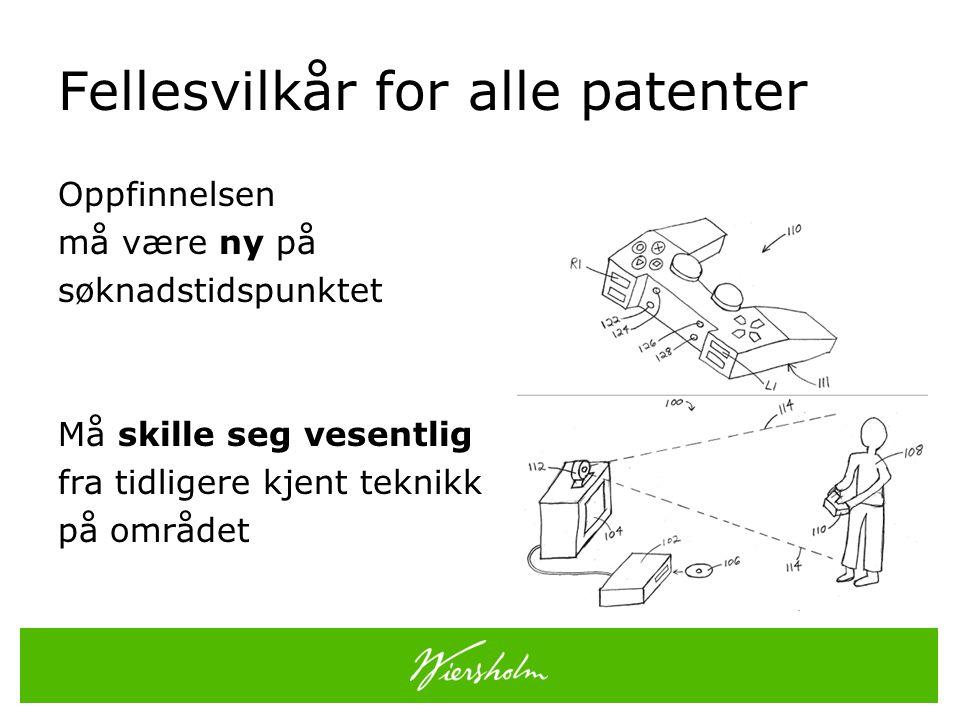 Fellesvilkår for alle patenter