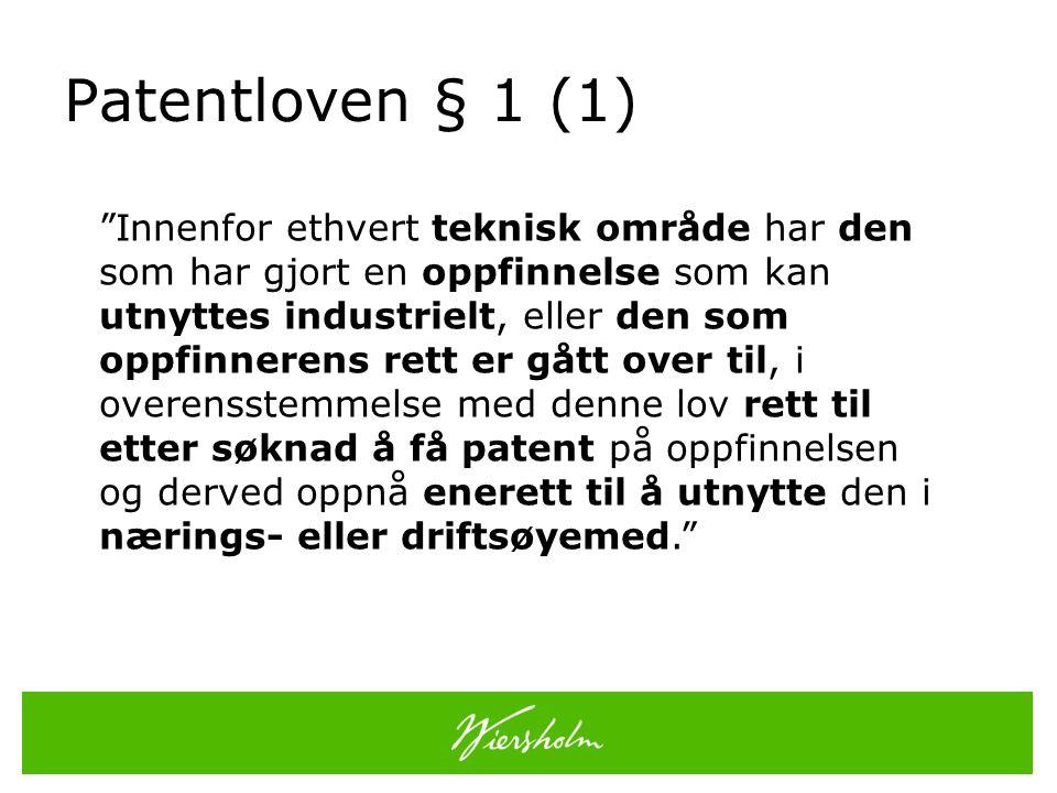 Patentloven § 1 (1)