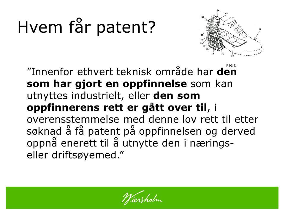 Hvem får patent