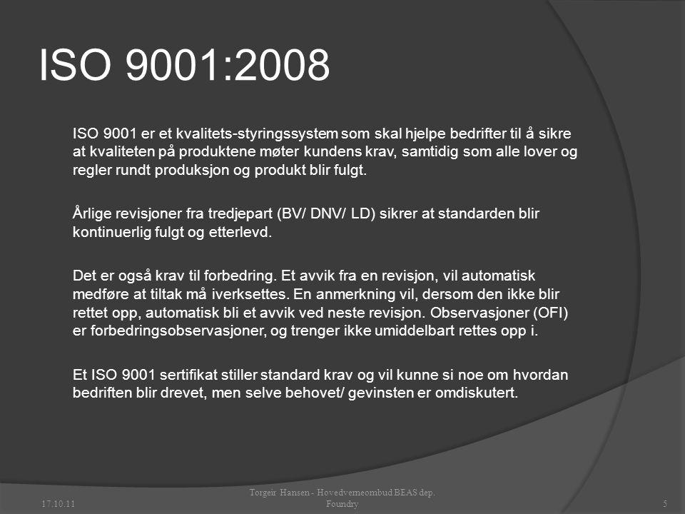 Torgeir Hansen - Hovedverneombud BEAS dep. Foundry