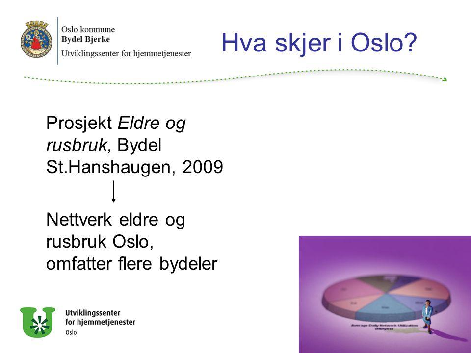 Hva skjer i Oslo Prosjekt Eldre og rusbruk, Bydel St.Hanshaugen, 2009