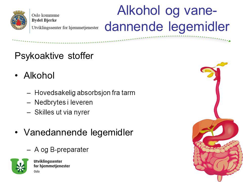 Alkohol og vane-dannende legemidler