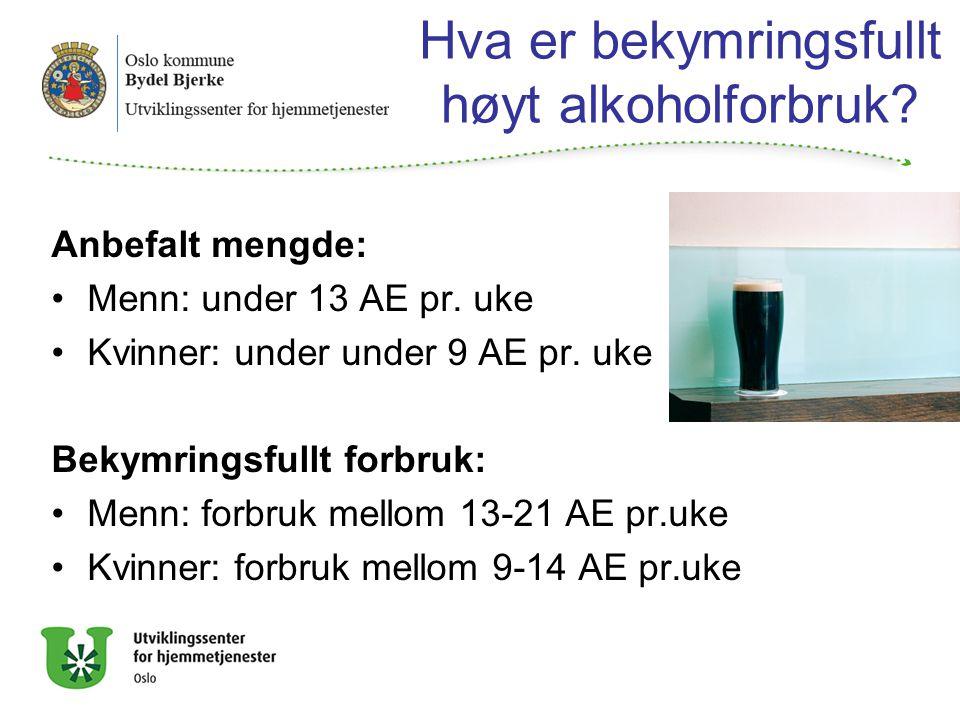 Hva er bekymringsfullt høyt alkoholforbruk