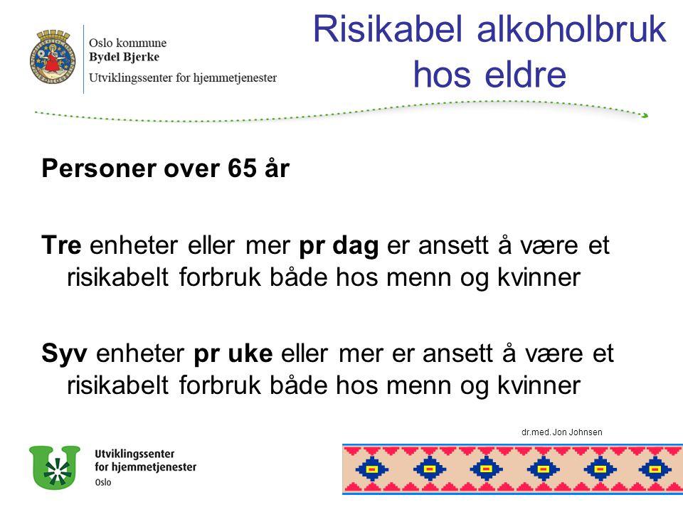 Risikabel alkoholbruk hos eldre