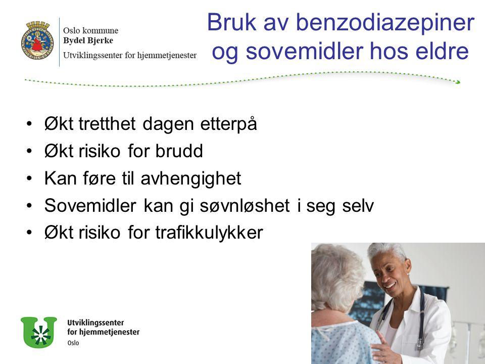 Bruk av benzodiazepiner og sovemidler hos eldre
