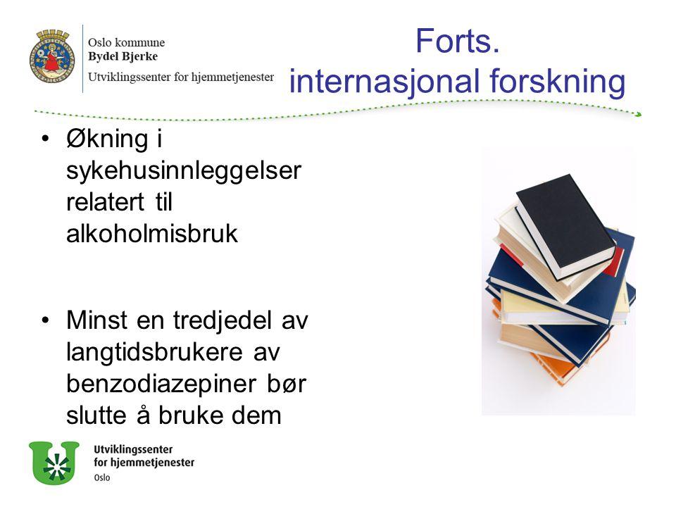 Forts. internasjonal forskning
