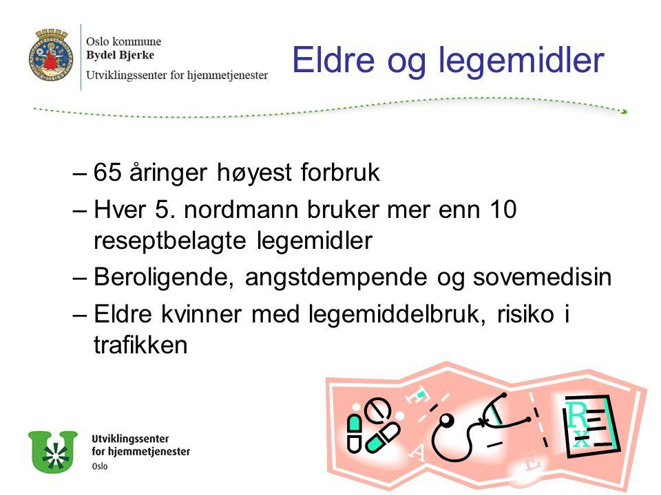 Eldre og legemidler 65 åringer høyest forbruk