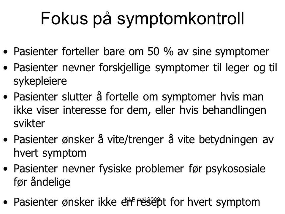 Fokus på symptomkontroll