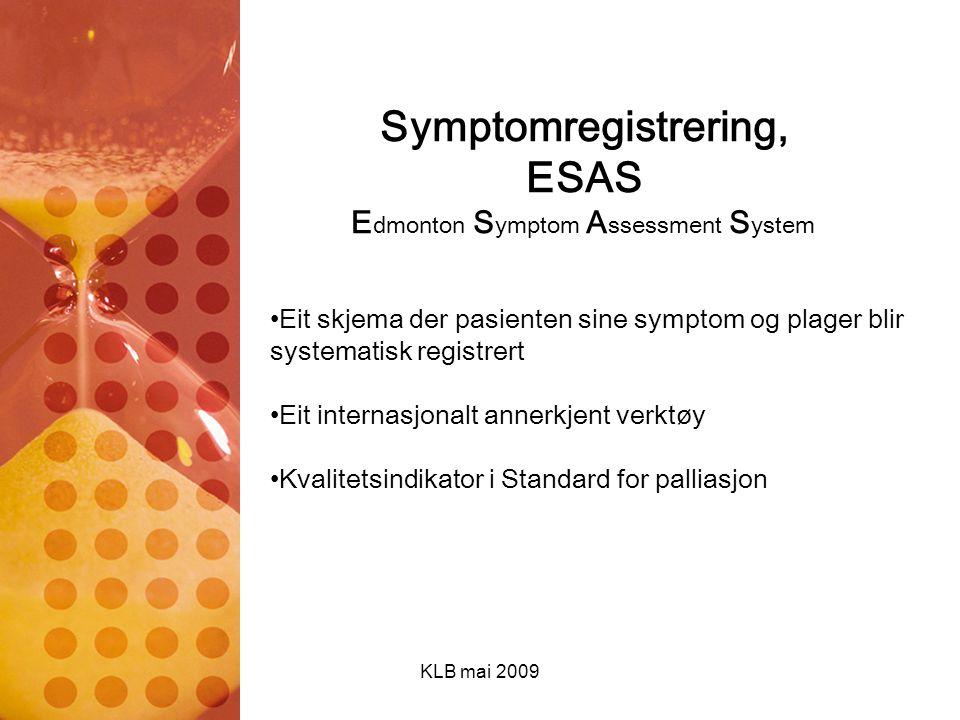 Symptomregistrering, ESAS