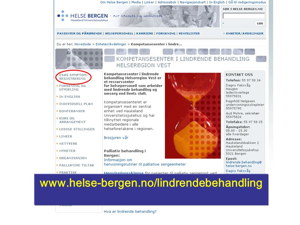 www.helse-bergen.no/lindrendebehandling KLB mai 2009