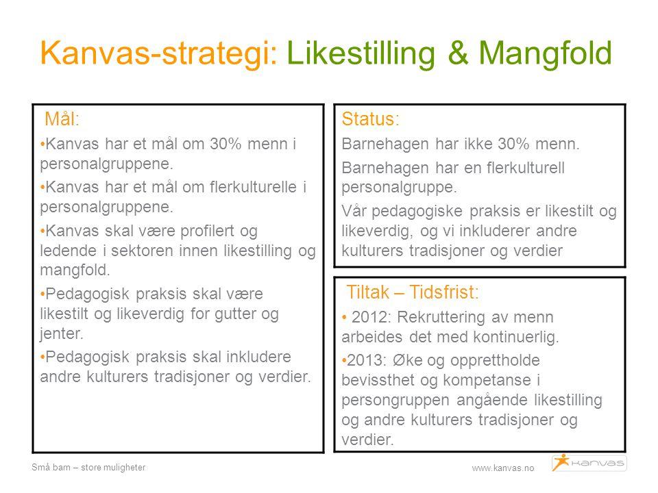 Kanvas-strategi: Likestilling & Mangfold