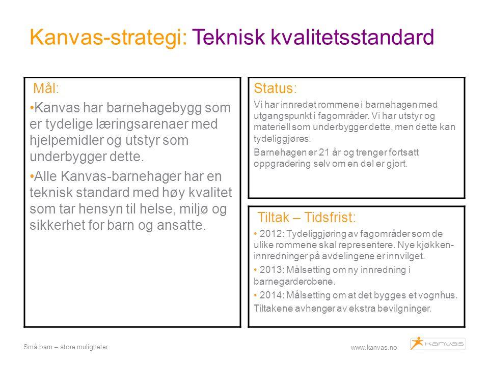 Kanvas-strategi: Teknisk kvalitetsstandard