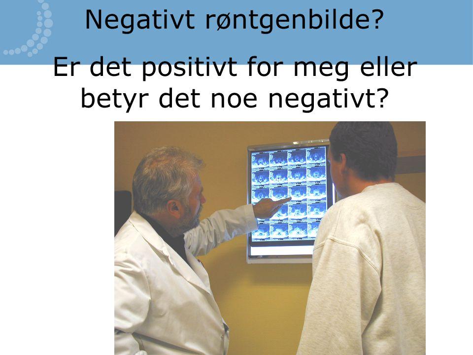 Negativt røntgenbilde