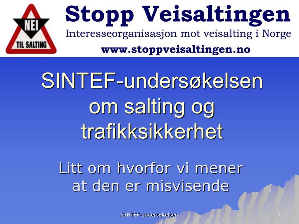 SINTEF-undersøkelsen om salting og trafikksikkerhet