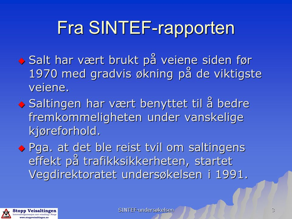 SINTEF-undersøkelsen